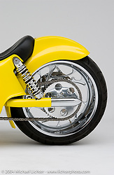 """""""Yellow"""" custom bike built by Arlen Ness in Dublin, CA, April 6, 2001, photographed by Michael Lichter in Dublin, CA. ©2004 Michael Lichter"""