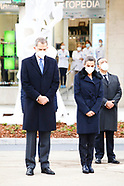 121820 Spanish Royals attends the Inauguration of the monument in memory of the health workers
