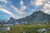 Pronghorn and Dragon Head Peaks. Bridger Wilderness. Wind River Range, Wyoming