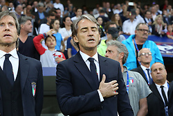 June 1, 2018 - Nice, France - Roberto Mancini, head coach of Italy National Team,  before the friendly football match between France and Italy at Allianz Riviera stadium on June 01, 2018 in Nice, France. (Credit Image: © Massimiliano Ferraro/NurPhoto via ZUMA Press)