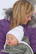 The winter sport photograph session of his royal highness the prince of oranje, her royal highness princess Máxima, her royal highness princess Catharina-Amalia and her royal highness princess Alexia during their holiday in Lech.<br /> <br /> <br /> De wintersportfotosessie van Zijne Koninklijke Hoogheid de Prins van Oranje, Hare Koninklijke Hoogheid Prinses Máxima, Hare Koninklijke Hoogheid Prinses Catharina-Amalia en Hare Koninklijke Hoogheid Prinses Alexia tijdens hun vakantie in Lech.<br /> <br /> Op de foto / On the Photo:<br /> <br /> <br /> <br /> <br /> Máxima en Alexia