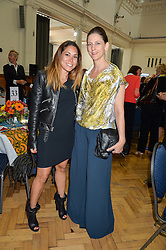 Left to right, LILY HODGES and MARIA GRACHVOGEL at a lunch in aid of the charity African Solutions to African Problems (ASAP) held at the Royal Horticultural Hall, Vincent Square, London on 19th May 2016.