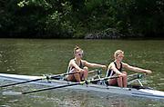 Henley on Thames, England, United Kingdom,  Saturday,  22.06.19,   Maidenhead RC, at the Start, J 2X, Henley Women's Regatta, Henley Reach,  Karon PHILLIPS/Intersport Images,<br /> , <br /> 14:07:27