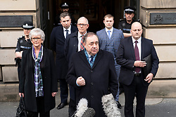 Edinburgh, Scotland, UK. 23 March, 2020.  Alex Salmond discharged from High Court in Edinburgh after being found not guilty of sexual offences. Iain Masterton/Alamy Live News
