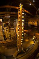 Sperm whale jaw, Whaling Museum, Nantucket town, Nantucket island, Massachusetts, USA