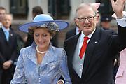 Zijne Hoogheid Prins Floris van Oranje Nassau, van Vollenhoven en mevrouw mr. A.L.A.M. Söhngen zijn zaterdag 22 oktober in de kerk van Naarden in het  huwelijk getreden. De prins is de jongste zoon van Prinses Magriet en Pieter van Vollenhoven.<br /> <br /> Church Wedding Prince Floris and Aimée Söhngen. <br /> <br /> Church Wedding Prince Floris and Aimée Söhngen in Naarden. The Prince is the youngest son of Princess Margriet, Queen Beatrix's sister, and Pieter van Vollenhoven. <br /> <br /> Op de foto / On the photo;<br /> <br /> <br /> <br /> <br /> Hare Koninklijke Hoogheid Prinses Margriet der Nederlanden en Professor Mr. Pieter van Vollenhoven <br /> <br /> Her royal highness princess Magriet of the The Netherlands and professor Mr. Pieter van Vollenhoven (parents of Floris)