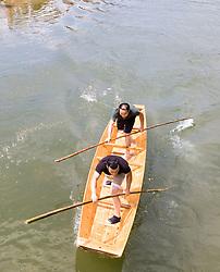 July 27, 2018 - Congjian, Congjian, China - Congjiang, CHINA-People of Zhuang ethnic minority group attend a rowing contest in Congjiang, southwest China's Guizhou. (Credit Image: © SIPA Asia via ZUMA Wire)