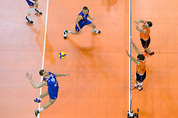 06-01-2020 NED: CEV Tokyo Volleyball European Qualification Men, Berlin<br /> Match Serbia vs. Netherlands 3-0 / Maarten van Garderen #3 of Netherlands, Michael Parkinson #17 of Netherlands