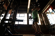 All Blacks prop Wyatt Crockett during the All Blacks gym session at Les Mills, Wellington, in preparation for the 2nd test match between the All Blacks and the British & Irish Lions at Westpac Stadium, Wellington.    26   June   2017    New Zealand Herald photograph by Brett Phibbs