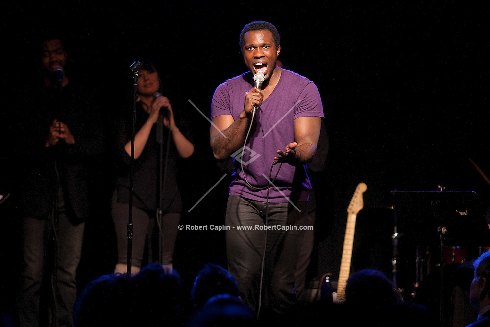 Joshua Henry performs Soul Weakness at The Triad Theater in New York. ..Photo by Robert Caplin.