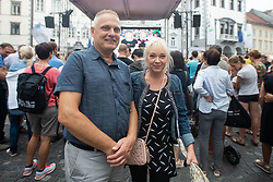 Parents of Janja Garnbret during PZS reception of Slovenian national climbing team after IFSC Climbing World Championships in Hachioji (JPN) 2019, on August 23, 2019 at Ministry of Education, Science and Sport, Ljubljana, Slovenia. Photo by Grega Valancic / Sportida