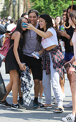 May 3, 2018 - New York, New York, United States - Actress Gina Rodriguez was on the set of the new movie 'Someone Great' in Washington Square Park on May 3 2018 in New York City  (Credit Image: © John Sheene/Ace Pictures via ZUMA Press)