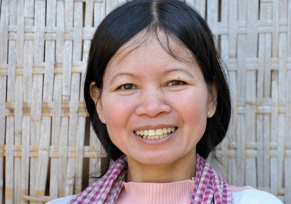 Meas Kimheng, 40, a woman in Khnach, a village in the Kampot region of Cambodia.