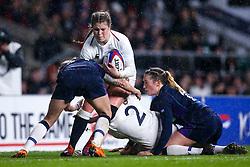 Jess Breach of England Women is tackled - Mandatory by-line: Robbie Stephenson/JMP - 16/03/2019 - RUGBY - Twickenham Stadium - London, England - England Women v Scotland Women - Women's Six Nations