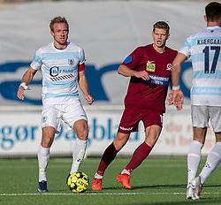 Jonas Henriksen (FC Helsingør) under kampen i 1. Division mellem FC Helsingør og Skive IK den 18. oktober 2020 på Helsingør Stadion (Foto: Claus Birch).