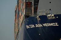 CMA CGM JEAN MERMOZ (Container Ship) docked in Southampton  photo By Michael Palmer