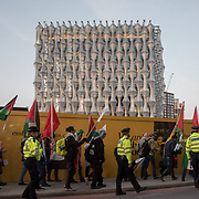 Protest against the US embassy moving to Jerusalem on the eve of the 70th anniversary of the Nakba