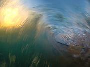 Sunset through the Shore Break