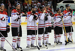 Team Canada  at  ice-hockey game Canada vs Russia at finals of IIHF WC 2008 in Quebec City,  on May 18, 2008, in Colisee Pepsi, Quebec City, Quebec, Canada. Win of Russia 5:4. (Photo by Vid Ponikvar / Sportal Images)