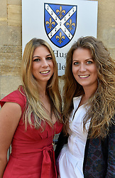 © London News Pictures. 08/09/2014<br /> Left to right Sisters Harriet and Charlotte Moss who sang to Prince Williams at the event.  Prince William, The Duke of Cambridge at St Hugh's College, University of Oxford, on the day it was announced that he and his wife The Duchess of Cambridge are expecting their second child. Photo credit: Mark Hemsworth/LNP
