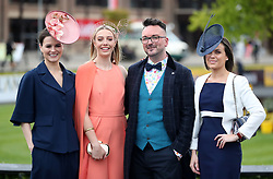 Judges for the Best Dressed Racegoer (L-R) Serena Stack, Blathnaid Treacy, Derek Montgomery and Paula Geraghty during day three of the Punchestown Festival in Naas, Co. Kildare.
