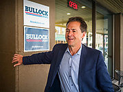 10 JULY 2019 - MARSHALLTOWN, IOWA: Governor STEVE BULLOCK (D-MT) after a campaign stop at a cafe in Marshalltown Wednesday. Gov. Bullock is in a crowded field of Democrats vying to be the party's Presidential nominee in 2020. Iowa traditionally hosts the the first election event of the presidential election cycle. The Iowa Caucuses will be on Feb. 3, 2020.        PHOTO BY JACK KURTZ