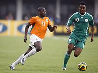 Fotball<br /> Afrika-mesterskapet 2008<br /> Foto: DPPI/Digitalsport<br /> NORWAY ONLY<br /> <br /> FOOTBALL - AFRICAN CUP OF NATIONS 2008 - QUALIFYING ROUND - GROUP B - 21/01/2008 - NIGERIA v IVORY COAST - EMMANUEL EBOUE (IVO) / JOHN OBI MIKEL (NIG) <br /> <br /> Nigeria v Elfenbenskysten