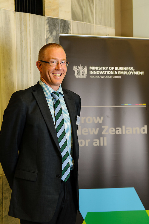 Jonathan Gray – Inghams Enterprises (NZ) Pty Limited at the Prime Minister's Business Scholarships 2014: Ministry of Business, Innovation and Employment. http://www.mbie.govt.nz. Parliament, Wellington. Monday 4 August 2014.  Photo: Mark Tantrum / www.marktantrum.com