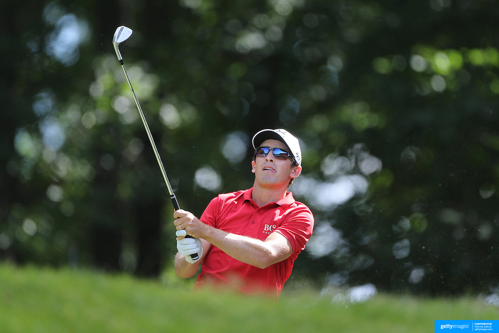 Scott Langley, USA, in action during the third round of the Travelers Championship at the TPC River Highlands, Cromwell, Connecticut, USA. 21st June 2014. Photo Tim Clayton