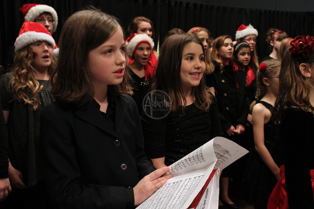 """Seattle Opera """"Our Earth"""" Youth Chorus performing at the 2012 Holiday Party and Board Meeting at the Rainier Club."""