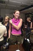 Sarah Gellatels-Smith. Joseph Ettedgui, Isabella Blow and Michael Roberts host a private viewing of Alexandre Herchcovitch. Joseph, Fulham Rd. London. 27 September 2000. © Copyright Photograph by Dafydd Jones 66 Stockwell Park Rd. London SW9 0DA Tel 020 7733 0108 www.dafjones.com