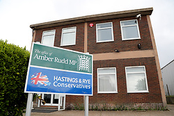 The Hastings and Rye constituency office of Home Secretary Amber Rudd in St. Leonards, East Sussex.