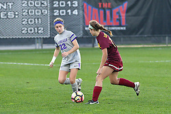 04 November 2016:  Samantha Brown(22) during an NCAA Missouri Valley Conference (MVC) Championship series women's semi-final soccer game between the Loyola Ramblers and the Evansville Purple Aces on Adelaide Street Field in Normal IL