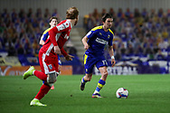AFC Wimbledon midfielder Ethan Chislett (11) dribbling during the EFL Sky Bet League 1 match between AFC Wimbledon and Gillingham at Plough Lane, London, United Kingdom on 23 February 2021.