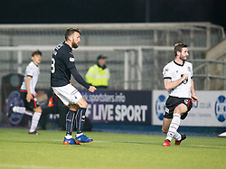 Falkirk's Lee Miller scoring their first goal. Falkirk 3 v 1 St Mirren, Scottish Championship game played 3/12/2016 at The Falkirk Stadium .