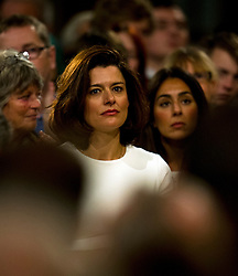 © London News Pictures. 26/09/2012. Brighton, UK.  MIRIAM GONZALEZ DURANTEZ listening to her husband, Leader of the Liberal Democrats, NICK CLEGG deliver his leaders speech on the final day of the Liberal Democrat Autumn Conference in Brighton, East Sussex  on September 26, 2012. Photo credit : Ben Cawthra/LNP.