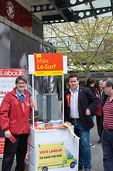Mike Le-Surf, prospective candidate for South Basildon and East Thurrock in Basildon Town Centre canvassing for support in the forthcoming general election. April 2015