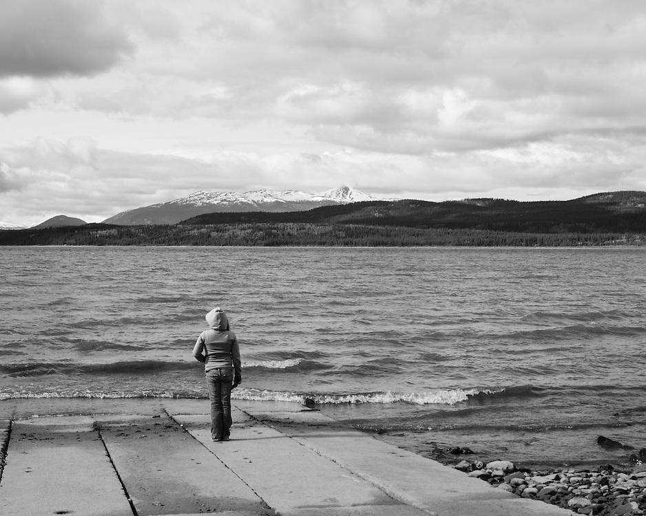 """Mc Clintock Bay, Yukon, Canada.KM Mark 1370.""""Inn on the Lake"""""""