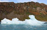 Iceberg in Arctic summer landscape, Svalbard, Norway