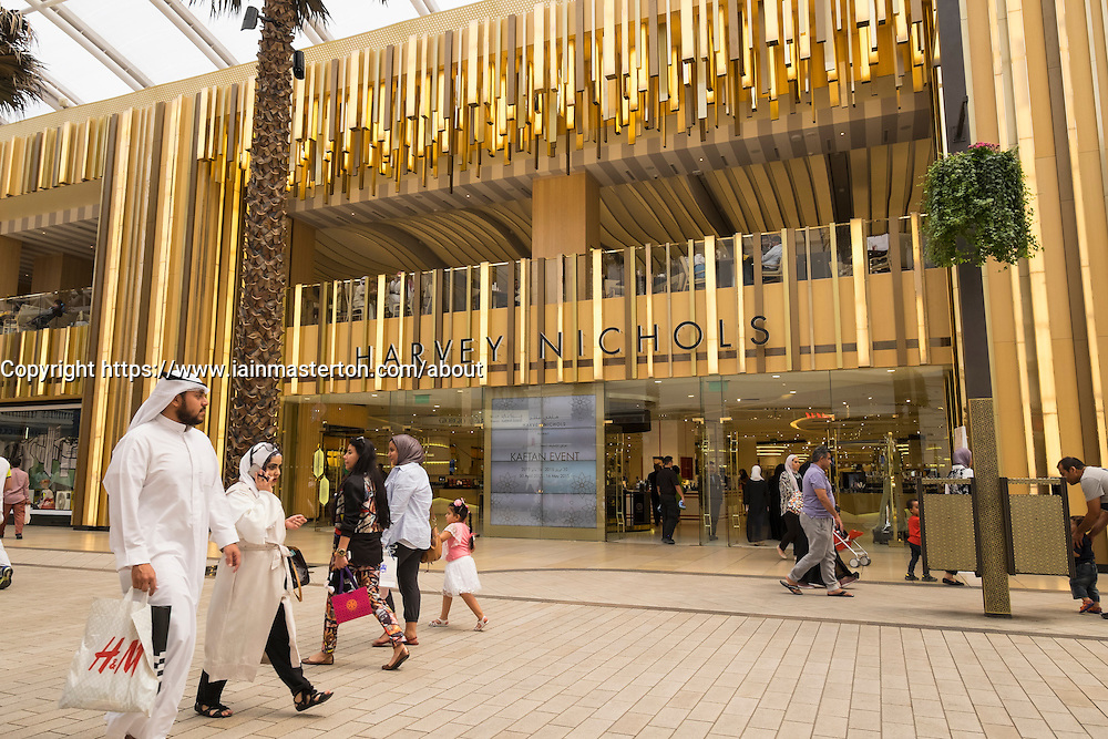 Harvey Nichols luxury store at  The Avenues shopping mall in Kuwait City, Kuwait.