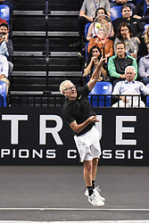 October 4, 2018 - St. Louis, Missouri, U.S - JOHN MCENROE during the Invest Series True Champions Classic on Thursday, October 4, 2018, held at The Chaifetz Arena in St. Louis, MO (Photo credit Richard Ulreich / ZUMA Press) (Credit Image: © Richard Ulreich/ZUMA Wire)