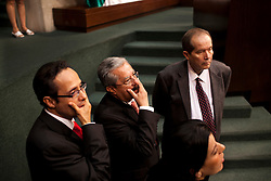 Inside the Mexican congress before the beginning of a joint session.