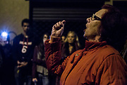 A woman singing a saeta during the General Procession of Good Friday, considered Cultural Heritage of Mataró city (Barcelona, Spain) since 2013.  Easter 2015. Eva Parey/4SEE