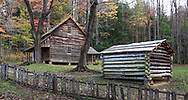 Cades Cove in the Great Smoky Mountains National Park of Tennessee and North Carolina, USA
