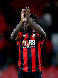 AFC Bournemouth's Jermain Defoe celebrates after the final whistle