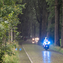 VELDHOVEN (NED) July 4 <br /> CYCLING <br /> The first race of the Schwalbe Topcompetition the Simac Omloop der Kempen<br /> Kasseien in de regen