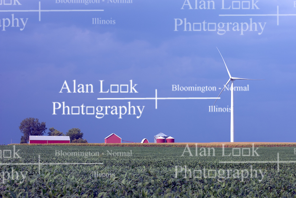 03Sep2011: White Oak Wind Farm McLean County, Illinois..This image is a High Dynamic Range image (HDR).  It may or may not recreate the scene in a proper or historic manner.  If used editorially it should be captioned as an illustration.<br /> <br /> This image available for EDITORIAL USE ONLY. A release may be required. Additional information by contacting alook at alanlook.com