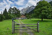 Rosenlaui Valley views. Switzerland, the Alps, Europe.
