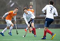 BLOEMENDAAL - Hockey.  Damon Steffens (Tilburg) Bloemendaal HI-Tilburg HI, oefenwedstrijd.    COPYRIGHT  KOEN SUYK