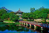 Hyangwonjong Pavilion (Loyal Family's private rear garden), Kyongbokkung Palace, Seoul, South Korea
